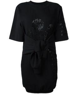 Moschino   Knot Front Sweatshirt Dress Womens Size 40 Cotton/Other Fibers