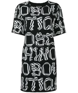 Boutique Moschino | Letter Print Dress Womens Size 46 Polyester/Other Fibers