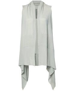 Rick Owens   Sleeveless Cardigan Womens Size Medium Virgin Wool