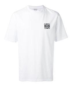 Loewe   Logo Embroide T-Shirt Mens Size Large Cotton