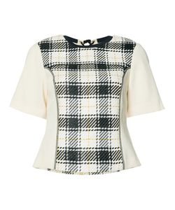 3.1 Phillip Lim | Plaid Knitted Top Womens Size 0 Cotton/Viscose
