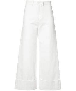 Sea | Cuffed Flare Trousers Womens Size 2 Cotton