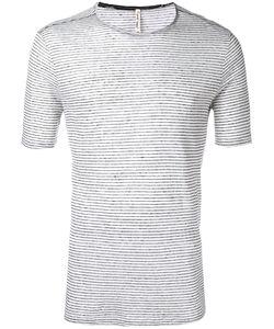 Transit | Striped T-Shirt Mens Size 48 Linen/Flax