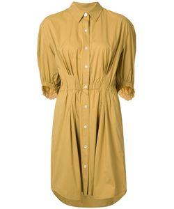 Sonia Rykiel | Gathe Waist Shirt Dress Womens Size 38 Cotton/Spandex/Elastane