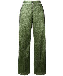 Aviù | Wide-Legged Glittery Trousers Womens Size 40 Cotton/Polyamide/Polyester/Spandex/Elastane