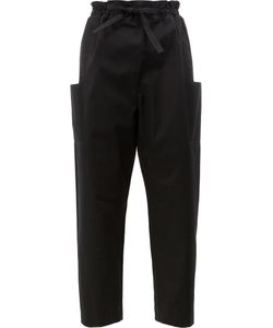 Maison Rabih Kayrouz   Side Pockets Belted Trousers Womens Size 36
