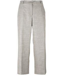 Agnona | Wide Leg Cropped Trousers Womens Size 42 Spandex/Elastane/Wool/Viscose/Spandex/Elastane