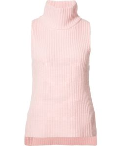 Novis | Ribbed Detail Knitted Top Womens Size Small Wool/Cashmere