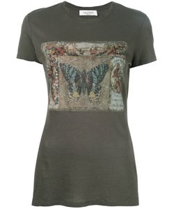 Valentino | Butterfly Print T-Shirt Womens Size Large Cotton