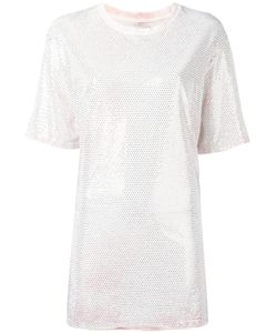 Faith Connexion | Embellished Oversized T-Shirt Womens Size Small Cotton/Aluminium