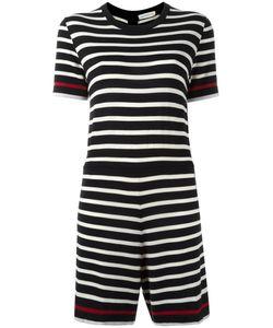 Chinti And Parker | Breton Stripe Playsuit Womens Size Xs Merino