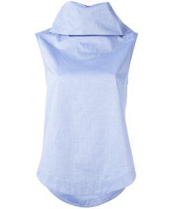 Société Anonyme   Turtle Blouse Womens Size 40 Cotton