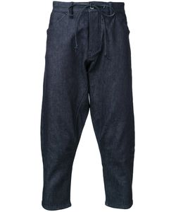 Kazuyuki Kumagai | Cropped Denim Trousers Mens Size 2 Cotton/Polyurethane