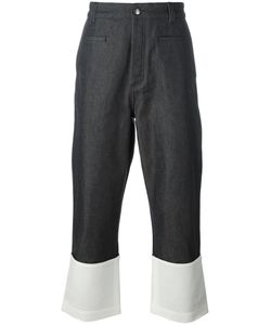 Loewe   Wide-Leg Contrast Jeans Mens Size 50 Cotton