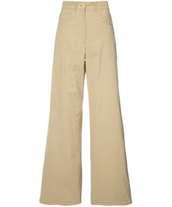 Sea | Loose Fit Fla Trousers Womens Size 4 Cotton/Linen/Flax/Viscose/Spandex/Elastane