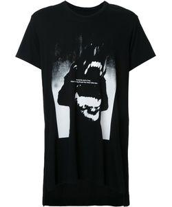 Julius | Text Print T-Shirt Mens Size 3 Cotton/Modal