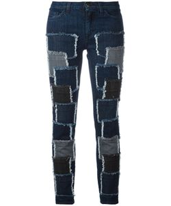 Giamba | Patches Stretched Jeans Size 40 Cotton/Spandex/Elastane