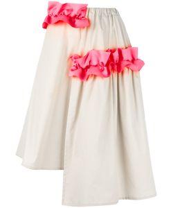 Paskal | Ruffle Detail Asymmetrical Skirt Womens Size Xs Cotton/Polyester/Spandex/Elastane