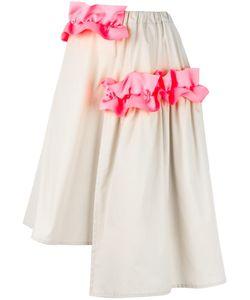 Paskal | Ruffle Detail Asymmetrical Skirt Womens Size Xs Polyester/Cotton/Spandex/Elastane
