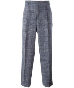 E. Tautz | Plaid Pleated Tape Trousers Mens Size 30 Wool/Silk/Viscose
