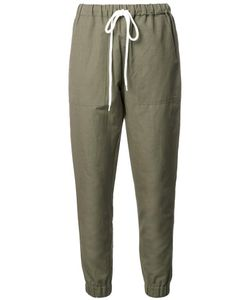 Bassike | Tape Trousers Womens Size 8 Cotton/Linen/Flax