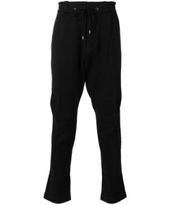 Devoa | Drawstring Trousers Mens Size 2 Silk/Linen/Flax/Polyester