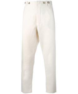 Ermanno Gallamini | Slim-Fit Trousers Mens Size Small Linen/Flax