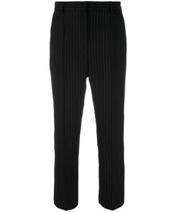 Mm6 Maison Margiela | Pinstripe Cropped Trousers Womens Size 44 Polyester/Viscose