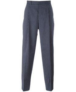 E. Tautz | Pinstripe Trousers Mens Size 30 Viscose/Cotton/Wool/Silk