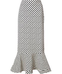 Saloni   Polka Dots Midi Skirt Womens Size 6 Polyester/Spandex/Elastane