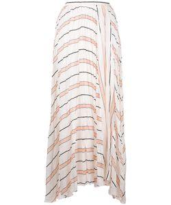 Forte Forte | Striped A-Line Midi Skirt Womens Size I Silk