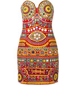 Moschino   Mirror Embroide Mini Dress Womens Size 42 Cotton/Polyamide/Spandex/Elastane