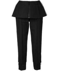 Vera Wang | Trousers With Peplum Womens Size 0 Nylon/Wool/Silk/Cotton