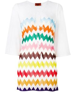 Missoni | Zig-Zag Print Sheer Dress Womens Size 44 Viscose