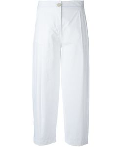 Erika Cavallini | Pleat Detail Cropped Trousers Womens Size 44 Cotton/Spandex/Elastane