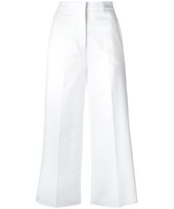 Rochas | Cropped Trousers Womens Size 42 Cotton/Spandex/Elastane
