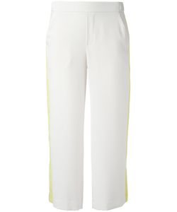 P.A.R.O.S.H. | Side Stripe Cropped Trousers Womens Size Xl Polyester