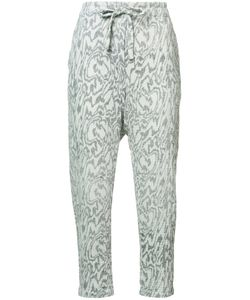 Raquel Allegra | Marble Print Cropped Trousers Womens Size 0 Cotton