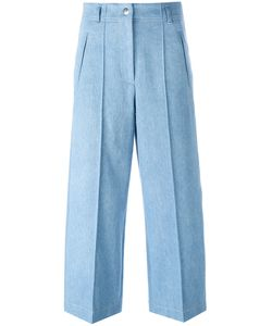 Barbara Bui | Wide-Legged Cropped Jeans Womens Size 38 Cotton