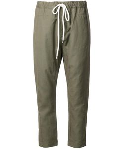Bassike | Relaxed Fit Trousers Womens Size 8 Cotton/Linen/Flax