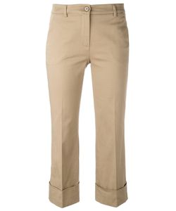 L'Autre Chose | 3/4 Length Cropped Trousers With Turn-Up Hem Womens Size