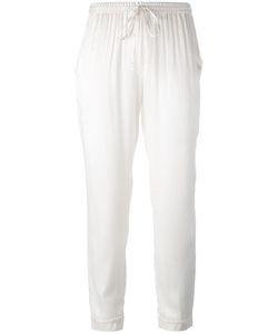 P.A.R.O.S.H. | Drawstring Cropped Pants Womens Size Medium Silk/Spandex/Elastane