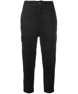 Vince | Cargo Cropped Trousers Womens Size Medium Linen/Flax/Spandex/Elastane/Viscose