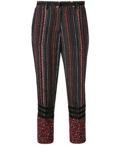 No21   Stripe Cropped Trousers Womens Size 38 Silk