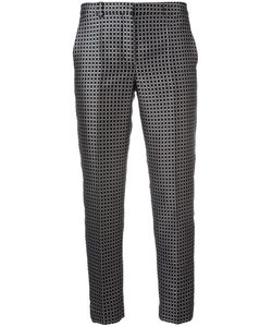'S Max Mara | Checked Cropped Trousers Womens Size 46 Polyester