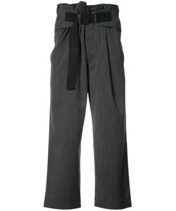 Ann Demeulemeester | Loose Fit Cropped Trousers Mens Size Small Cotton/Wool