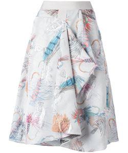 Chalayan | Enveloped Skirt Womens Size 40 Acetate/Viscose/Polyester