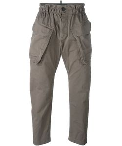 DSquared² | Elasticated Waist Cargo Trousers Mens Size 52 Cotton/Polyester/Polyurethane
