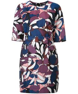 Paule Ka | Print Dress Womens Size 46 Cupro/Cotton/Polyester/Linen/Flax
