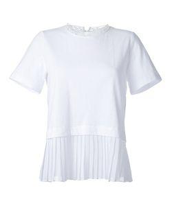 Muveil   Pleated Hem T-Shirt Size 36 Cotton